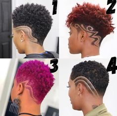 If you've decided to take the plunge and finally chop your hair, Get inspired with these 35 chic and stylish big chop hairstyles for short natural hair Natural Hair Short Cuts, Tapered Natural Hair, Pelo Natural, Short Hair Cuts, Natural Hair Styles, Pixie Cuts, Undercut Natural Hair, Short Curls, Natural Beauty