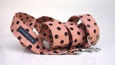 """Hund: Leinen - Sonstige - Hundeleine - Stoffleine """"Cappuccino Dots"""" 4 dogs - ein Designerstück von stitchbully bei DaWanda"""