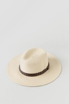 """Complete+your+summer+outfit+with+the+Jordana+Panama+Hat!+The+panama+style+straw+hat+features+a+dark+brown+braided+hat+band.+The+classic+features+of+this+hat+make+it+versatile+and+easy+to+wear!<br+/>  <br+/>  -+3""""+Brim<br+/>  -+7.5""""+diameter<br+/>  -+One+Size+fits+most<br+/>  -+Imported"""