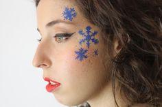 En #Navidad... ¡Deslumbrarás con un #maquillaje de fantasía con motivos navideños!