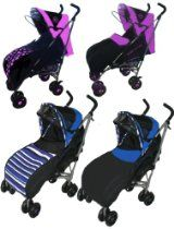 Buggies Single buggy pushchair Pram stroller from Newborn Baby Child Toddler with rain cover and reversible foot muff (pattern or plain) sui...