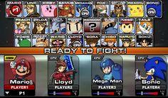 Famoso juegos basado en Super Smash Bros donde elijes a tu personaje favorito
