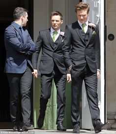 how cute they are for Tom's wedding!