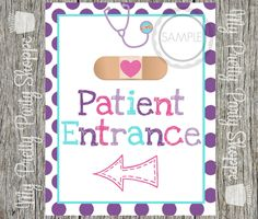 Printable 8x10 Doc Inspired Door Sign / Birthday Wall Hanging / Sign to Frame / Print *INSTANT DOWNLOAD* by MyPrettyPartyShoppe on Etsy https://www.etsy.com/listing/216572662/printable-8x10-doc-inspired-door-sign
