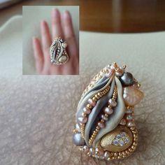 Serena Di Mercione Jewelry) | Iconosquare Ribbon Jewelry, Soutache Jewelry, Jewelry Crafts, Beaded Jewelry, Handmade Jewelry, Crochet Rings, Shibori Fabric, Pearl Embroidery, Bracelet Tutorial
