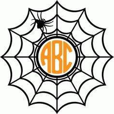 Spider web monogram