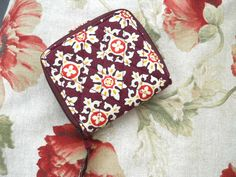 Vera Bradley Wallet Yellow Brown Orange Fabric
