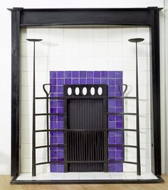 FURNITURE (Rectilinear):  Fireplace from Willow Tea Room by Charles Rennie Mackintosh (1904).