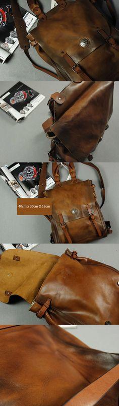 Handmade_vintage_leather_brown_backpack_Distressed-for_men_-Weekend-Bag-Travel-Bag_1