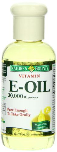 Nature's Bounty E Oil 30,000IU - excellent wrinkle prevention & skin hydration when used on the face.