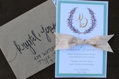 Handpainted Wedding Invitation. Handmade Invitation. Watercolor Wedding Invitation. Botanical Wreath..JPG