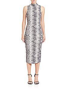 Elizabeth and James - Python-Print Sheath Dress