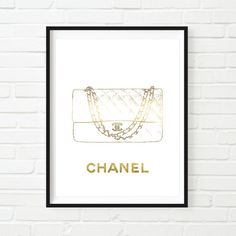 Hermes wall art, fashion illustration, chanel logo, wall decor, typography art poster, watercolour illustration, high fashion wall art. stylish home