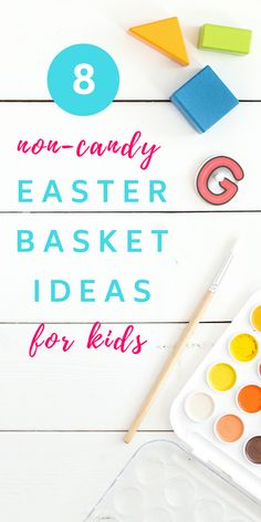 Non-Candy Easter Basket Ideas (that you can prep FAST) - the sweetest digs Easter Games, Easter Crafts For Kids, Kids Gift Baskets, Easter Baskets, Spring Home Decor, Spring Crafts, Diy Easter Decorations, Easter Printables, Craft Stick Crafts