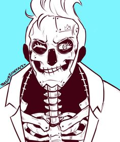 """Franky - """"You've got nerves of steel, Brook-bro!"""" Brook: """"Even if I don't have any?"""" Franky: """"Right, bro!"""" Brook: """"Yohohoho!"""""""