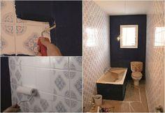Cómo pintar los azulejos del baño - Bricolaje - DecoEstilo.com Painting Bathroom Tiles, Flat Rent, Bath Decor, Amazing Bathrooms, Bathroom Inspiration, Small Bathroom, House Design, Home Decor, Toilets