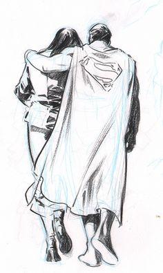 Superman & Lois Lane by Stuart Immonen