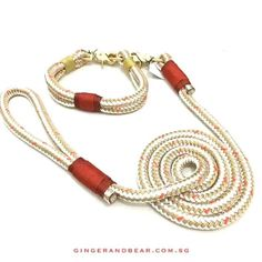 Confetti Red leash and collar set in sailing rope and brass hardware. Just in!! DM me for more info.. ....... #gingerandbear #sniffoutsomethingspecial #designfordogs #dogmeetsdesign #dogculture  #stylishdog #stylishdogsg  #petsmagazinesg  #buzzfeed #dogcollar #dogfashion #dogfashionista #dogstyle #sgdogfashionista #sgstylishdog #dogleash #ruggedwrist