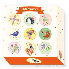 100 Chichi nature themed stickers with glitter effect. Djeco's creative team has designed this collection of refined and delicate stationary with beautiful illustrations: books, notebooks, secret notebooks, pencil cases, erasers, stickers, stamps, transfers,  Illustrated by Chichi Huang   Suitable FromN/A DimensionsBox 7.5 x 7.5 x 3cm BrandLovely Paper by Djeco Product CodeDD03702 Barcode3070900037021