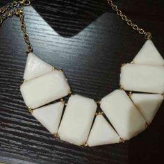 White bib statement necklace. Brand new never worn White bib statement necklace. Brand new never worn! Jewelry Necklaces