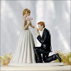 Romantic Dip Wedding Cake Topper