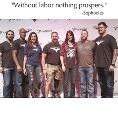"""3SN represented at The Patriot Tour with """"Lone Survivor"""" Marcus Luttrell and """"American Sniper"""" Chris Kyle's wife Taya. In honor of our hard working Americans and Heroes we are having a Pre Labor Day 50% off sale on the site until Monday night. Use code DOWORK www.shop3sn.com"""