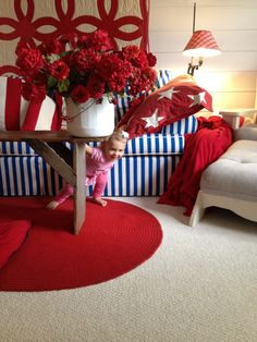 Americana Decor --- Guess what I like most about this room?!