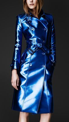 Burberry Prorsum Bright Metallic Trench Coat.