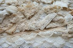 Faith, Grace, and Crafts: Pearls and Lace Thursday Grand Haul of Lace and a New Collage