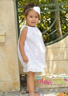White Dress, White Eyelet Dress, Easter Dress, Pillowcase Dress, Toddler Dress, Beach Dress, Toddler Girls Dress, Baby Girl by AddysAtticOnEtsy on Etsy https://www.etsy.com/listing/100994592/white-dress-white-eyelet-dress-easter