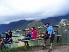 Descansando en Machu Pichu