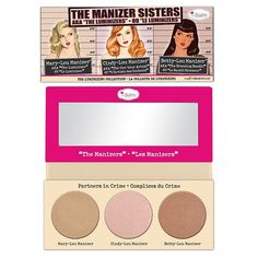 theBalm The Manizer Sisters Luminizer Collection Palette. I have these separately from Hautelook, but it's so tempting to have them all in one =P