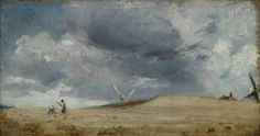 John Constable 'The Gleaners, Brighton', 1824