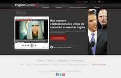 The website 'http://es.englishcentral.com/' courtesy of Pinstamatic (http://pinstamatic.com)