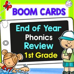 Use this digital Boom Cards bundle to review 1st grade Consonant Blends, CVCe, Identifying Long Vowels & Digraph knowledge by identifying the correct spellings in words with fun Summer themes. 6 interactive Boom Cards decks! These digital task cards are full of movable answers for students to ma...
