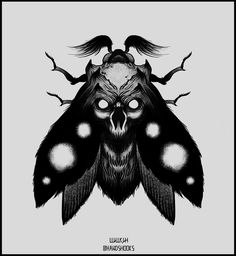 Moth by Hands-hooks Creepy Tattoos, Head Tattoos, Time Tattoos, Body Art Tattoos, Beetle Tattoo, Bug Tattoo, Insect Tattoo, Tattoo Sketches, Tattoo Drawings