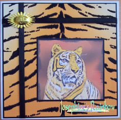 Josephine created this beautiful card using the Tiger Digital Stamp and Paper Pack