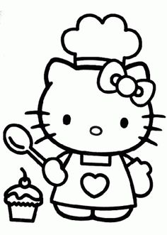 hello kitty princess coloring pages coloring hello kitty cook drawing picture hello