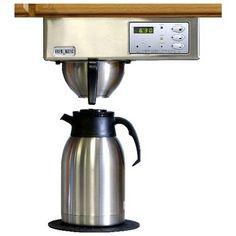 Brewmatic Built-In Coffee Maker - Digital Controls (Brushed Stainless Steel) (7H x 13W x 7.5D) Color: Brushed Stainless Steel. Size: 7H x 13W x 7.5D. Brew directly into a travel mug. Connects directly to water line. Includes a digital clock, automatic brew time and three programmable volume buttons.  #Brewmatic #Kitchen