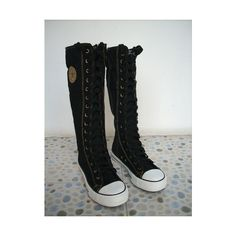 PUNK EMO Shoes Canvas Boots Zip Lace Up Knee High Valentine/'s Day Sneaker Pumps