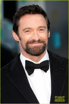 Hugh Jackman - BAFTAs 2013 Red Carpet: Photo Hugh Jackman suits up on the red carpet at the 2013 EE British Academy Film Awards on Sunday (February at the Royal Opera House in London, England. Anne Hathaway, Les Miserables, Hugh Jackman, Neill Blomkamp, Winter Garden Theatre, The Music Man, Jay Ryan, Sci Fi Films, British Academy Film Awards