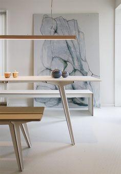 Slim modern copper lighting by danish Anour