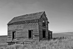 Lonely House out in Eastern Central Washington state in black and white. Taken at the height of summer.
