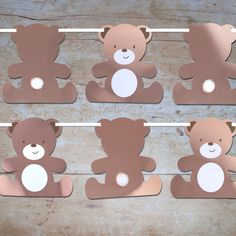 Hatton Gate Teddy Bear Shaped Bunting 1 per pack metres Teddy Bear Crafts, Teddy Bear Party, Teddy Bear Birthday, Teddy Bear Baby Shower, Teddy Bears Picnic, Picnic Birthday, Boy Birthday Parties, Birthday Boys, Picnic Baby Showers