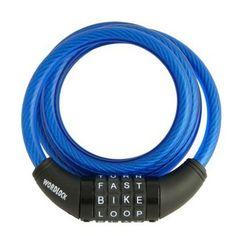 Wordlock Blue 4 Wheel Cable Bike Lock