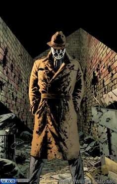 Top 10 Comic Book Anti-Heroes (Marvel & DC) Top 10 Comic Book Anti-Heroes (Marvel & DC) - Rorschach from The Watchmen Arte Dc Comics, Dc Comics Art, Anime Comics, Comic Book Characters, Comic Book Heroes, Comic Character, Fictional Characters, Best Comic Books, Comic Books Art