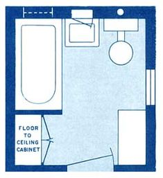 Bathroom floor plans small half bathrooms and floor plans for Bathroom designs 7x8