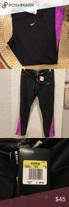 Nike Dri-fit Cropped Leggings NWT Dri-fit cropped leggings with one back pocket. Nike Pants Leggings