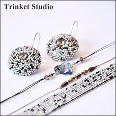 #PUK, #Mab, #Miranda , #Earrings, #necklace, #bracelet , #loom, #TrinketStudio, #Beading, #Swarovski, #peyot , #stitch #geometrical, Polandhandmade.pl , #Polandhandmade , #beadedbeads , #beaded, #beads , #Simplicity