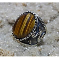 Tiger Eye Stone Ottoman Men Ring #silver #men #ring #handmade #ottoman #antique #naturale #fashion #new #desing #ruby #turquoise #agat #gemstone #jewelry #jewellers #jewel
